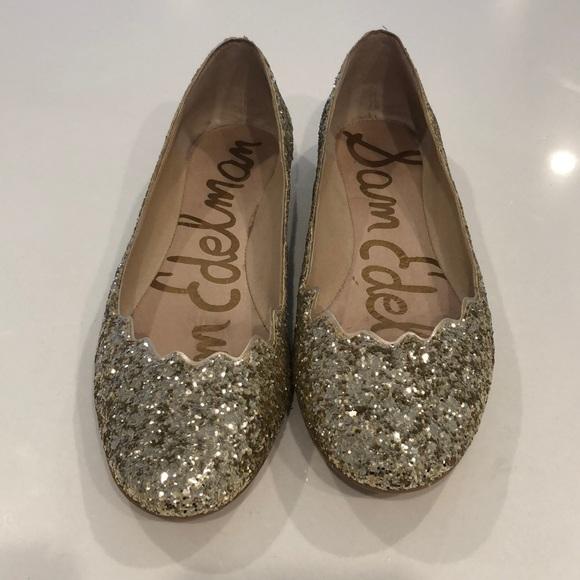1646736cab69 Sam Edelman Shoes - EUC - Sam Edelman sparkly gold bridal flats